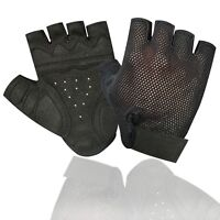 Power Fitness Training Cycling Weight Lifting Body Building Mesh Glove Black 608