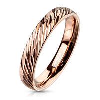 Ring Glitzer kristallbesetzt Rosegold aus Edelstahl Damen Ringe Frauen zart edel