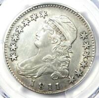 1811 Capped Bust Half Dollar 50C - Certified PCGS AU Details - Rare Coin!