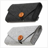 Mini Felt Pouch Power Bank Storage Bag For Cable Data Mouse Travel Organizer