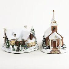 2 Hawthorne Village Thomas Kinkade Serenity Chapel & Yuletide Bakery Christmas
