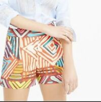J Crew Collection womens 6 Shorts Geo Brushstroke Multicolor