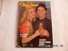 NOUS DEUX N°2162 12/1988 EMMANUELLE BEART DANIEL AUTEUIL M.MATHIEU DUMONT    E85