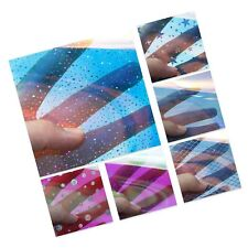 David accessories Transparent Holographic Faux Leather Sheets Iridescent Dot ...