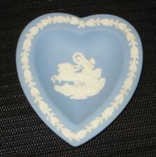 Vintage Blue Wedgwood Jasperware Ring Holder Carriage Horse Design Nr