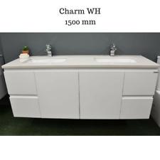 1500 mm Bathroom Vanity Cabinet Unit Engineered Stone Under Mount Double Basin
