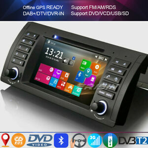 Dab + radio for bmw 5 series e39 x5 e53 m5 car dvd navi gps bluetooth tv rds