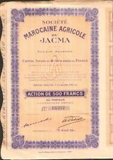 Société Marocaine Agricole du JACMA (CASABLANCA MAROC) (P)