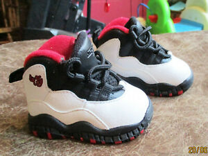 Great Air Jordan Collection High Top Baby Toddler Shoes 2 C Black White Red