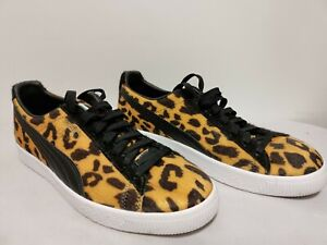 PUMA Clyde Leopard Cheetah Pony Hair Sz 11 Men