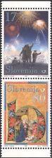 Slovenia 1999 Christmas/Seasonal Greetings/Nativity/Fireworks 2v pr (n44813a)