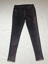 Levis Skinny Metallic Pink Black Jean Leggings Womens Size 29
