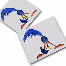 Road Runner `KISS MY` stickers decals motorcycle decals graphics x 2
