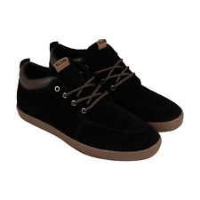 Globe Gs Chukka Mens Black Suede Athletic Lace Up Skate Shoes 8.5