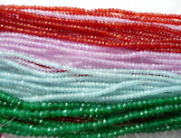 UKcheapest-red pink green purple agate rondelle 4x3mm 6x4 8x5mm gemstone beads