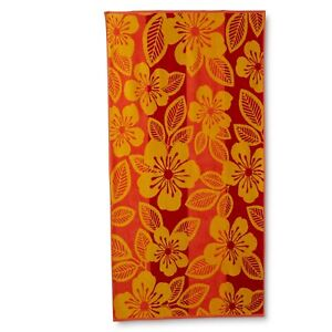 "Colormate Orange Tropical Floral Jacquard Beach Towel, 34""x64"""