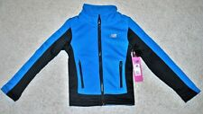 New Balance Girls' Blue Colorblock Zip Front Performance Jacket - Size 6X