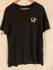 TRUE RELIGION Gold Big Buddha Crew Neck Short Sleeve T-Shirt in Black Sz XL NWT