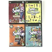 Sims 2 Expansion Packs Lot Of 4 PC Seasons Teen Style Bon Voyage Open Business