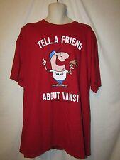 mens vans t-shirt XXL nwt coach guy red