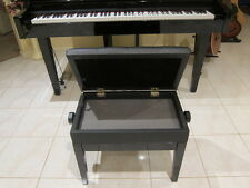 Luxury Adjustable Piano / Keyboard Bench Stool PU Leather Seat Storage 5103