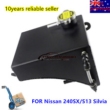 Aluminum Radiator Coolant Overflow Tank Can For Nissan 240SX S13 Silvia 1.3 BAR