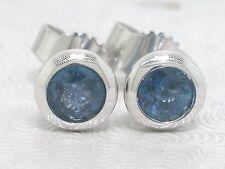 Saphir Ohrstecker 585 Weißgold 14Kt Gold Ohrringe natürliche blaue Saphire