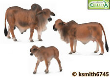 CollectA RED BRAHMAN BUNDLE solid plastic toy farm pet animal wild zoo * NEW 💥