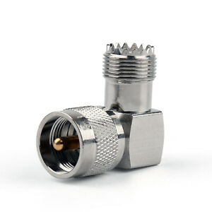 Adapter Adaptateur 90°UHF Plug Fiche mâle PL259 To SO239 Femelle Connector AF