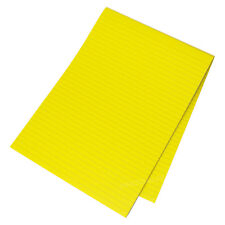 5 x Memory Aid A4 Bright Yellow 100 Page Paper Notepad Memo Lined Writing Pads