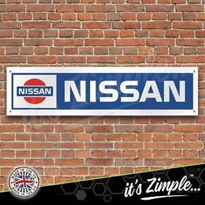 Retro Nissan logo Banner Garage Workshop Sign Printed PVC Trackside Display