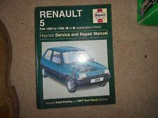 Renault 5 1985-96 956 1108 1237 1390 1397 1721 nuevo Haynes Manual De Taller