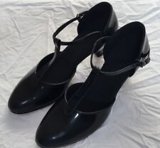 SoulDancer Ladies Ballroom Dance Shoes - Black Patent Leather - Size 7.5 Narrow