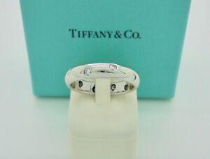 Authentic Tiffany & Co. Etoile Diamond Platinum Band Ring US6.5 - $5,050