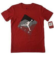Red Air Jordan Nike Tee Shirt  Size Childrens Small NEW