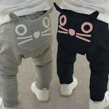 Autumn Toddler Baby Children Kid Pants Boy&Girl Cartoon Cat Harem Pants Trousers