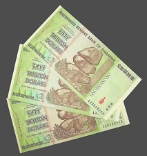 3 pcs x Zimbabwe 50 Trillion Dollar banknotes//AA//2008-XF authentic currency