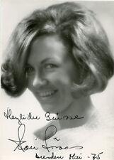 Autogrammkarte Kari Lövaas Sopran 1975 Echtfoto Originalunterschrift