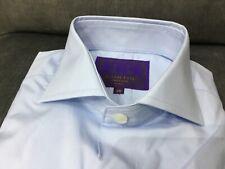 "HAWES & CURTIS mens high collar light blue Shirt SMALL 15 - 15 1/2"" neck BNWT"