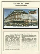 2001 #3510-19 34c Baseball Legendary Playing Fields Mystic 10 FDC on Album pages