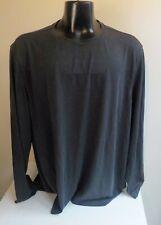 TASSO ELBA LS Crewneck Pullover T Shirt Gray SZ XXL Rayon/Poly