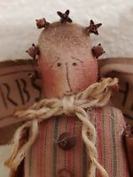 "Darling Vintage ""Herbs"" Angel with Cloves Doll Plush Rag Cloth Cinnamon"