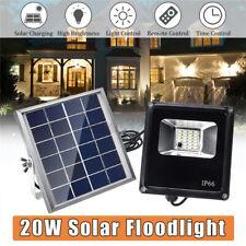 20LED Solar Panel Power Flood Light Outdoor Garden Street Lamp W/ Remote IP65