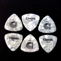 6 x WIDE EXTRA HEAVY D'Addario White Pearl Celluloid Guitar Pick Plectrum 1.25mm