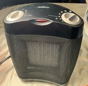 Sunbeam Compact 120V Ceramic Space Heater for Small Room - Gray (SCH4062)