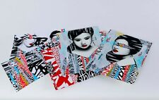 HUSH Faces I II Art Print Box Set - 2 Prints 4 Vinyl Sticker Sheets Screenprints