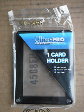 50 ULTRA PRO BLACK FRAME 1 CARD SCREWDOWN HOLDER Recessed 4 Screw Clear Display
