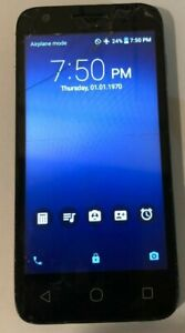 READ FIRST ALCATEL Ideal 4060a 8GB (Unknown) Black Cell Phone Cracked Used