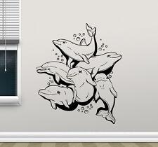Dolphins Wall Decal Sea Bathroom Vinyl Sticker Kids Room Art Decor Mural 52nnn