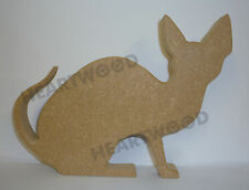 SPHYNX CAT SITTING SHAPE IN MDF (140mm x 18mm thick)/WOODEN CRAFT SHAPE